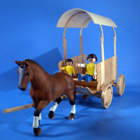 Craft Stick Covered Wagon