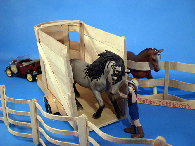 Craft stick bending and craft stick crafts projects for for Horse crafts for kids