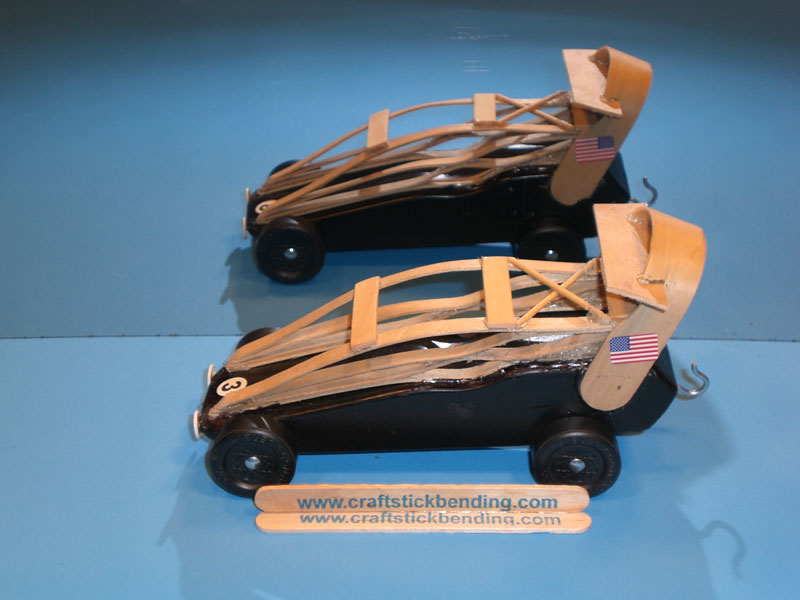 Pinewood Derby Cars Craft Stick Bending Kits