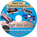 Race Car, Trailer and Accessories Kit