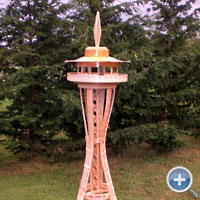 Yard Stick Space Needle Craft Stick Bending